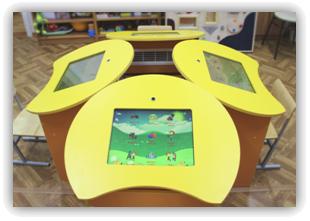 Интерактивные парты в инерактивном классе